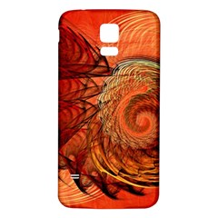 Nautilus Shell Abstract Fractal Samsung Galaxy S5 Back Case (white) by designworld65