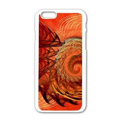 Nautilus Shell Abstract Fractal Apple Iphone 6/6s White Enamel Case by designworld65