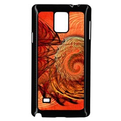 Nautilus Shell Abstract Fractal Samsung Galaxy Note 4 Case (black) by designworld65