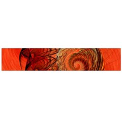 Nautilus Shell Abstract Fractal Flano Scarf (large) by designworld65