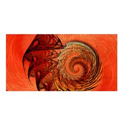 Nautilus Shell Abstract Fractal Satin Shawl by designworld65