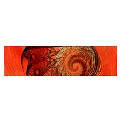 Nautilus Shell Abstract Fractal Satin Scarf (oblong) by designworld65
