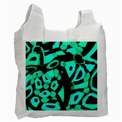 Cyan Design Recycle Bag (two Side)  by Valentinaart