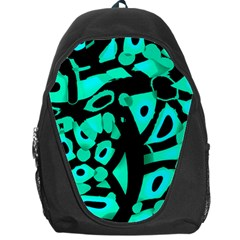 Cyan Design Backpack Bag by Valentinaart