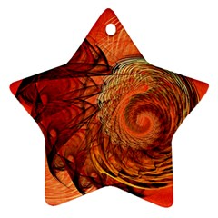 Nautilus Shell Abstract Fractal Ornament (star)  by designworld65