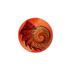 Nautilus Shell Abstract Fractal Golf Ball Marker (10 Pack) by designworld65