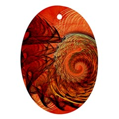 Nautilus Shell Abstract Fractal Oval Ornament (two Sides) by designworld65