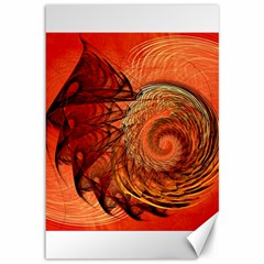 Nautilus Shell Abstract Fractal Canvas 12  X 18   by designworld65