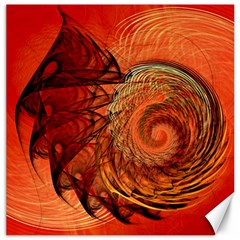 Nautilus Shell Abstract Fractal Canvas 16  X 16   by designworld65
