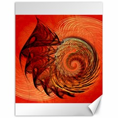 Nautilus Shell Abstract Fractal Canvas 18  X 24   by designworld65