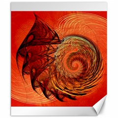Nautilus Shell Abstract Fractal Canvas 20  X 24   by designworld65