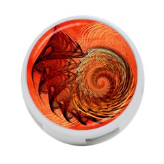 Nautilus Shell Abstract Fractal 4 Port Usb Hub (one Side) by designworld65
