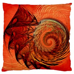 Nautilus Shell Abstract Fractal Large Cushion Case (two Sides) by designworld65