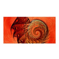 Nautilus Shell Abstract Fractal Satin Wrap by designworld65