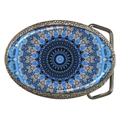 Feel Blue Mandala Belt Buckles by designworld65