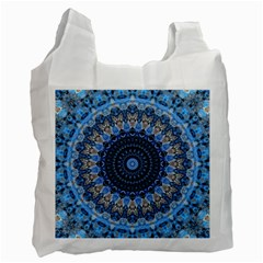 Feel Blue Mandala Recycle Bag (one Side) by designworld65