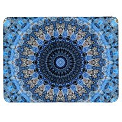 Feel Blue Mandala Samsung Galaxy Tab 7  P1000 Flip Case by designworld65