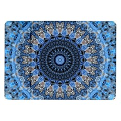 Feel Blue Mandala Samsung Galaxy Tab 10 1  P7500 Flip Case by designworld65