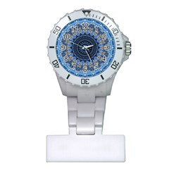 Feel Blue Mandala Plastic Nurses Watch by designworld65