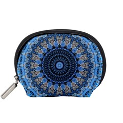 Feel Blue Mandala Accessory Pouches (small)  by designworld65