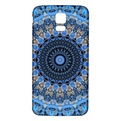 Feel Blue Mandala Samsung Galaxy S5 Back Case (white) by designworld65