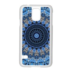 Feel Blue Mandala Samsung Galaxy S5 Case (white) by designworld65