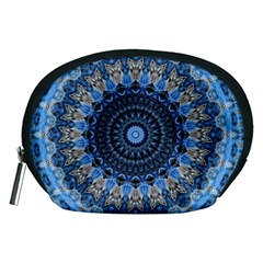 Feel Blue Mandala Accessory Pouches (medium)  by designworld65