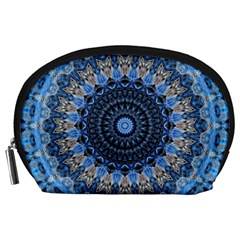 Feel Blue Mandala Accessory Pouches (large)  by designworld65