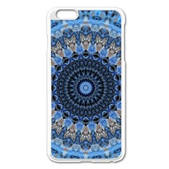 Feel Blue Mandala Apple Iphone 6 Plus/6s Plus Enamel White Case by designworld65