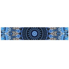 Feel Blue Mandala Flano Scarf (large) by designworld65
