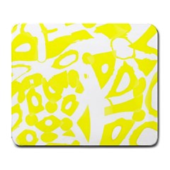 Yellow Sunny Design Large Mousepads by Valentinaart