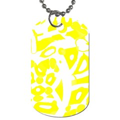 Yellow Sunny Design Dog Tag (two Sides) by Valentinaart