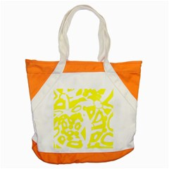 Yellow Sunny Design Accent Tote Bag by Valentinaart