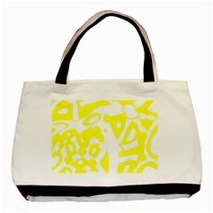 Yellow Sunny Design Basic Tote Bag (two Sides) by Valentinaart