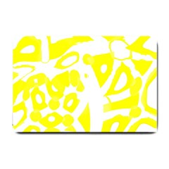 Yellow Sunny Design Small Doormat  by Valentinaart
