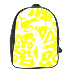 Yellow Sunny Design School Bags(large)  by Valentinaart