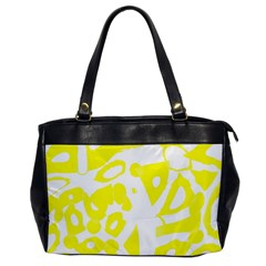 Yellow Sunny Design Office Handbags by Valentinaart