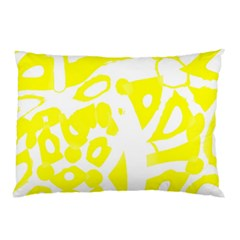 Yellow Sunny Design Pillow Case (two Sides) by Valentinaart