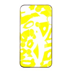 Yellow Sunny Design Apple Iphone 4/4s Seamless Case (black) by Valentinaart