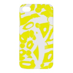 Yellow Sunny Design Apple Iphone 4/4s Hardshell Case by Valentinaart
