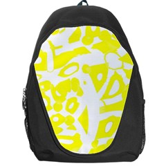 Yellow Sunny Design Backpack Bag by Valentinaart