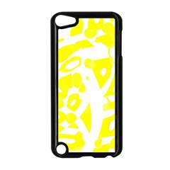 Yellow Sunny Design Apple Ipod Touch 5 Case (black) by Valentinaart
