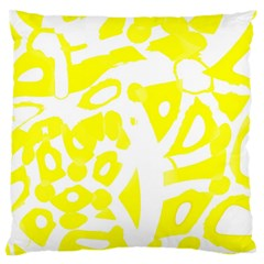 Yellow Sunny Design Large Flano Cushion Case (two Sides) by Valentinaart