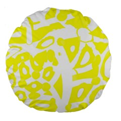 Yellow Sunny Design Large 18  Premium Flano Round Cushions by Valentinaart