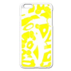 Yellow Sunny Design Apple Iphone 6 Plus/6s Plus Enamel White Case by Valentinaart