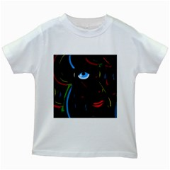Black Magic Woman Kids White T Shirts by Valentinaart