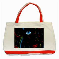 Black Magic Woman Classic Tote Bag (red) by Valentinaart