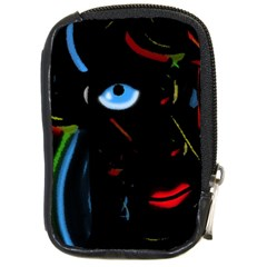 Black Magic Woman Compact Camera Cases by Valentinaart