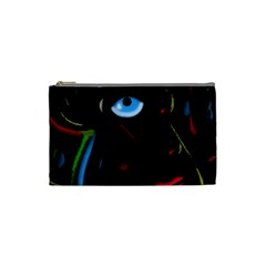 Black Magic Woman Cosmetic Bag (small)  by Valentinaart