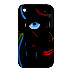 Black Magic Woman Apple Iphone 3g/3gs Hardshell Case (pc+silicone) by Valentinaart